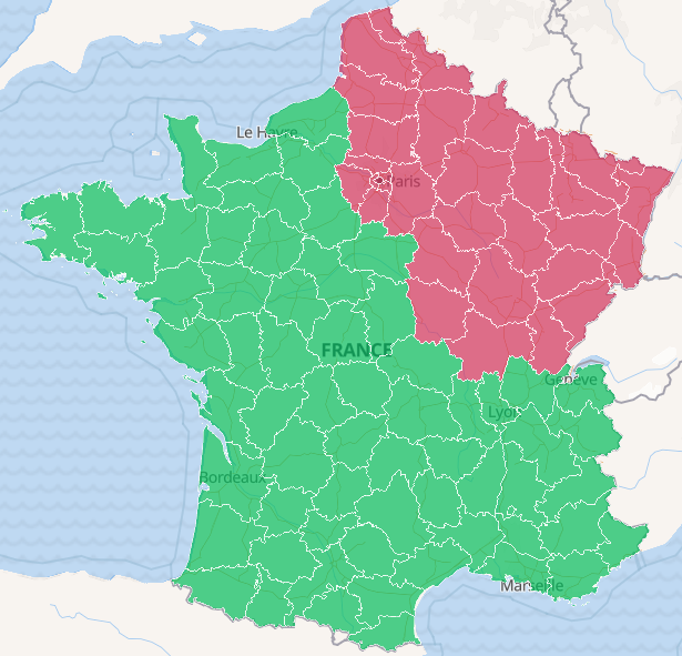 France occupée par le COVID19